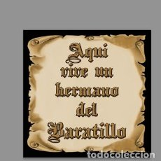 Kunsthandwerk - Azulejo 10x10 de Aquí vive un Hermano del Baratillo - 158982082