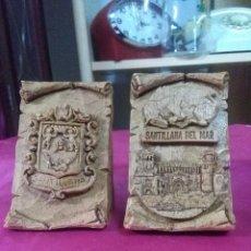 Artesanía: RECUERDO EN RESINA, SANTILLANA DEL MAR, 12CM. ALTURA BUEN ESTADO. Lote 159188574