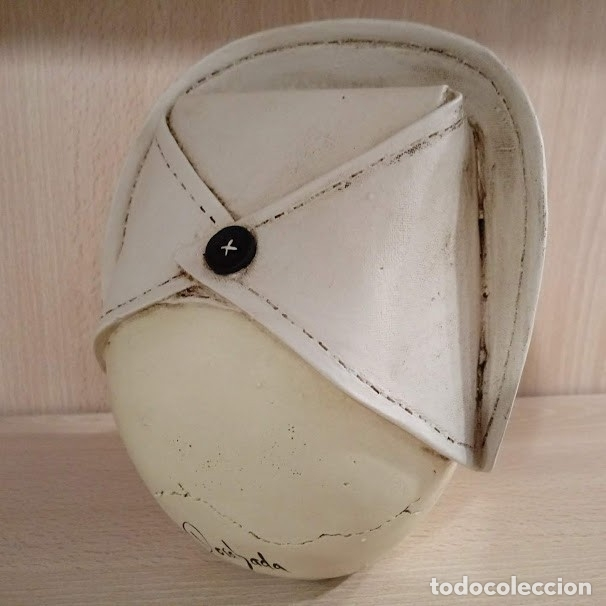 Artesanía: CALAVERA ENFERMERA de 15x12 cm en polvo de alabastro - Foto 4 - 156774233