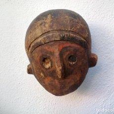 Artesanía: TALLA DE MADERA, CABEZA, FIGURA ETNICA AFRICANA.. Lote 160230990