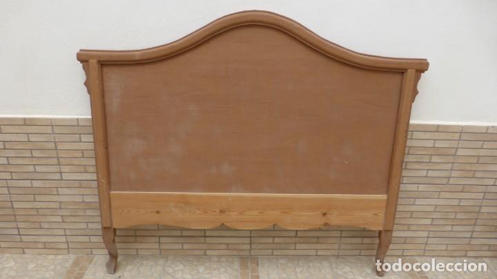 CABECERO MADERA CAMA 1,35 CM / CAOBA / ARTESANAL / NUEVO EN MADERA NATURAL. (Artesanía - Hogar y Decoración)