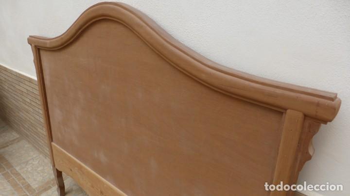 Artesanía: Cabecero madera cama 1,35 cm / caoba / artesanal / nuevo en madera natural. - Foto 2 - 160505742
