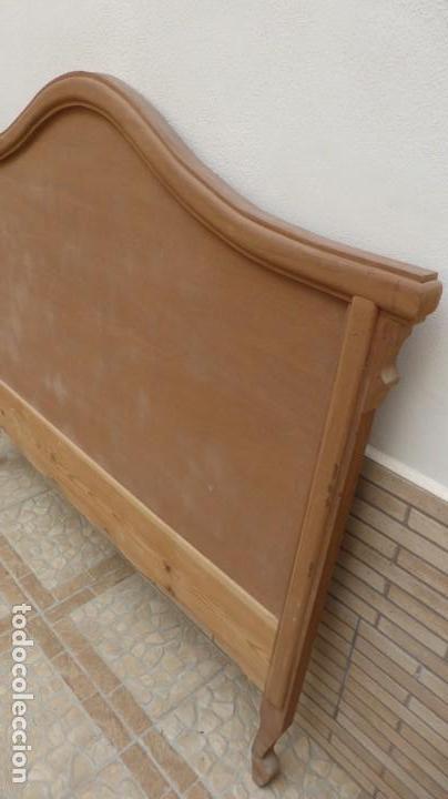 Artesanía: Cabecero madera cama 1,35 cm / caoba / artesanal / nuevo en madera natural. - Foto 3 - 160505742