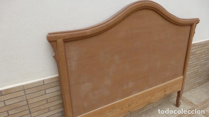 Artesanía: Cabecero madera cama 1,35 cm / caoba / artesanal / nuevo en madera natural. - Foto 4 - 160505742