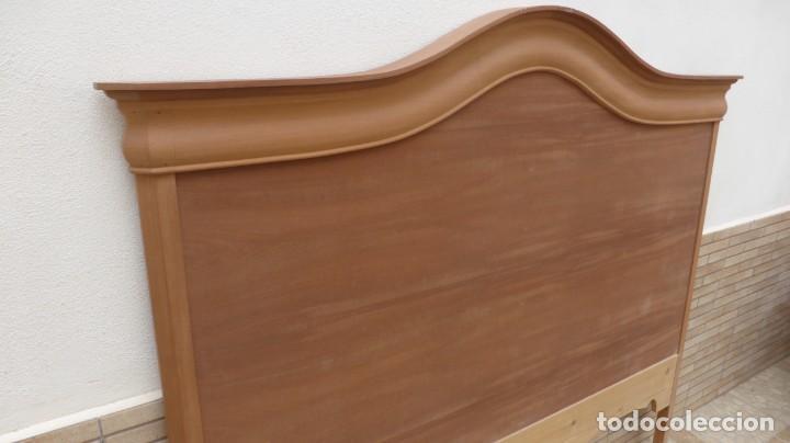 Artesanía: Cabecero madera cama 1,35 cm / caoba / artesanal / nuevo en madera natural. - Foto 2 - 160506414