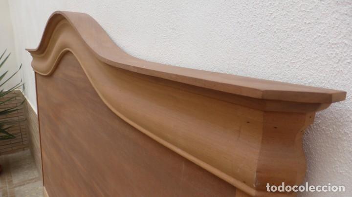 Artesanía: Cabecero madera cama 1,35 cm / caoba / artesanal / nuevo en madera natural. - Foto 3 - 160506414