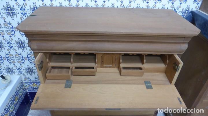 Artesanía: CÓMODA BURÓ / Madera natural, caoba, interior pino / Artesanal. - Foto 4 - 160507630
