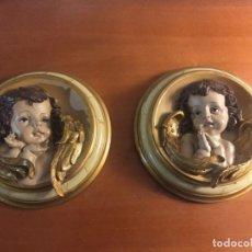 Artesanía: LOTE DOS ANGELOTES PARA DECORACION. Lote 161588794