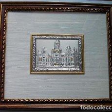 Artesanía: CUADRO DE LA CIBELES MADRID EN PLATA CON CERTIFICADO TAMAÑO 34X31 CM. VER FOTOS ADICIONALES. Lote 162033686