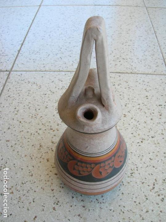 Artesanía: JARRON DECORATIVO DE ARCILLA PINTADA DE PEÑISCOLA MIDE ,20 DE ALTO POR 8 DE ANCHO - Foto 2 - 165042370