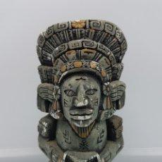 Artesanía: FIGURA ANTIGUA DE TOTEM APACHE EN SÍMIL DE PIEDRA CON ACABADO EN COLOR PIEDRA, HECHO EN MEXICO .. Lote 168274724