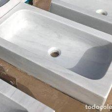 Artesanía: FREGADERO DE MÁRMOL BLANCO MACAEL. 70 X 35 X 15 CM.. Lote 168302104