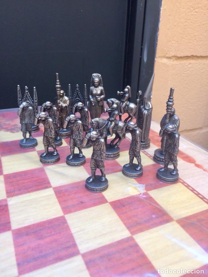 Artesanía: AJEDREZ COFRADE COMPLETO CON TABLERO ARTESANAL - Foto 3 - 168858688