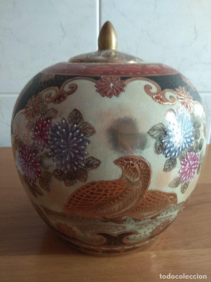 Artesanía: jarron chino tibor con plato 25 cm de alto 21 cm de diametro - Foto 3 - 169553236