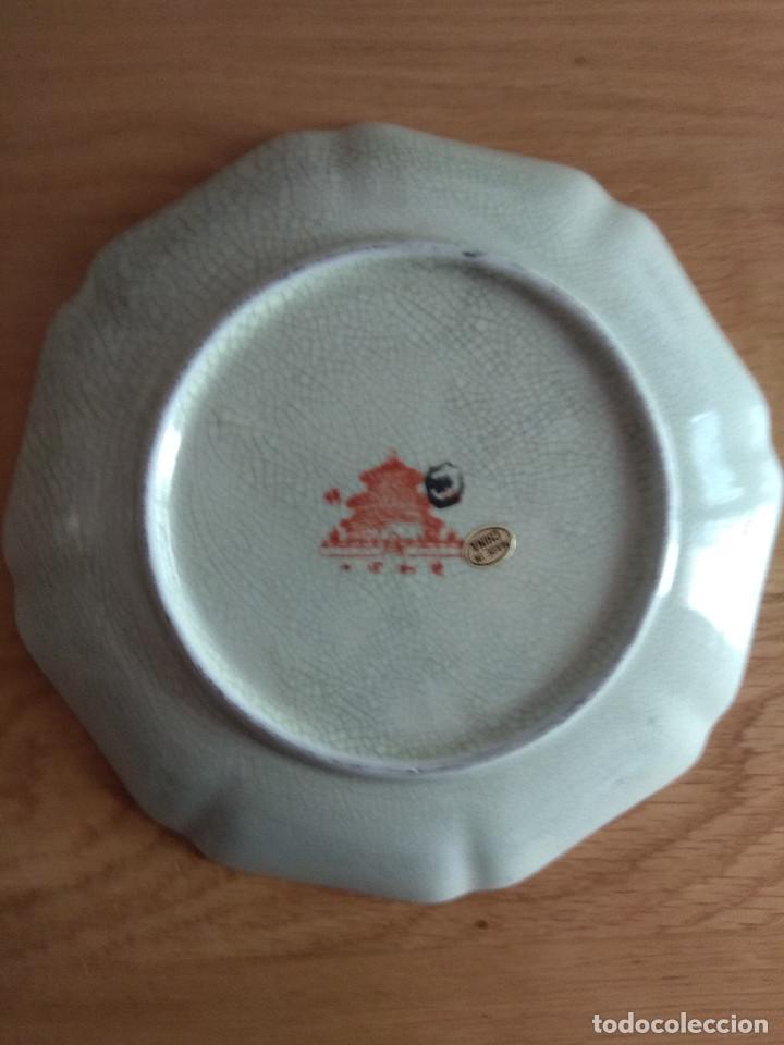 Artesanía: jarron chino tibor con plato 25 cm de alto 21 cm de diametro - Foto 4 - 169553236