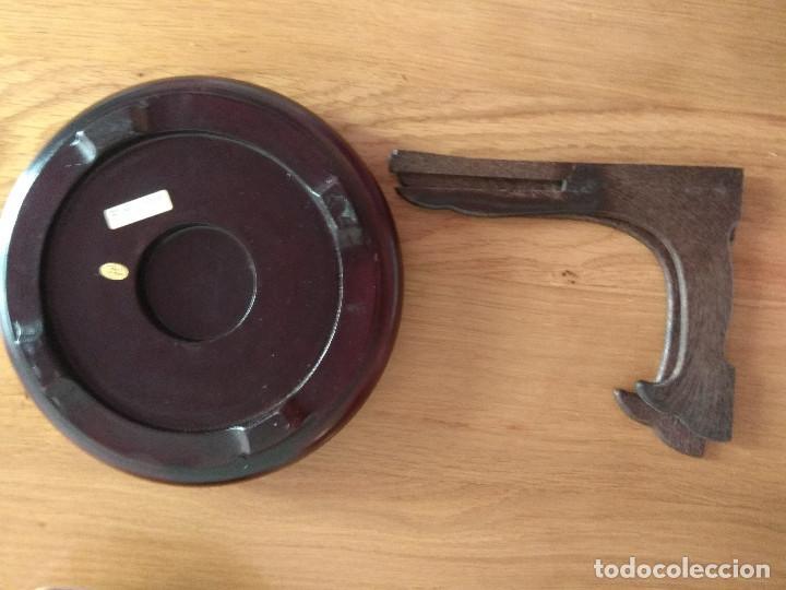 Artesanía: jarron chino tibor con plato 25 cm de alto 21 cm de diametro - Foto 6 - 169553236
