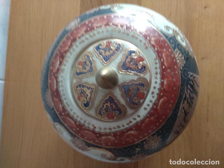Artesanía: jarron chino tibor con plato 25 cm de alto 21 cm de diametro - Foto 7 - 169553236