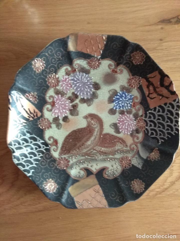 Artesanía: jarron chino tibor con plato 25 cm de alto 21 cm de diametro - Foto 8 - 169553236