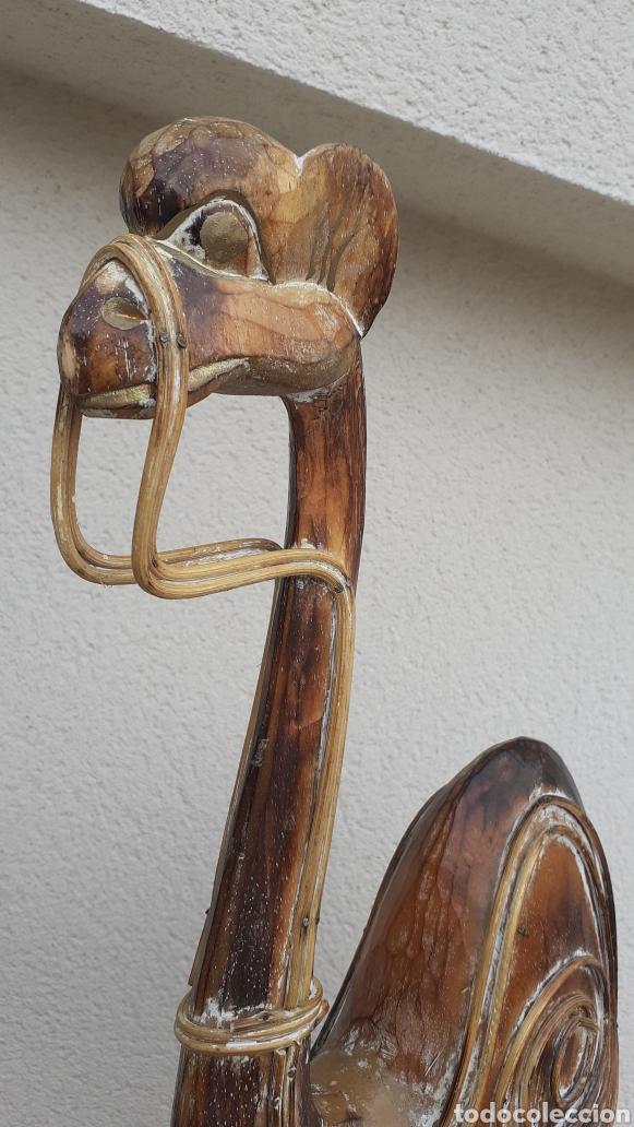 Artesanía: DROMEDARIO. TALLADO EN MADERA. ORIGINAL MARRUECOS. ESPECTACULAR. - Foto 2 - 171295504