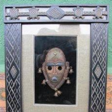 Artesanía: CUADRO CON MASCARA AFRICANA. Lote 171436297