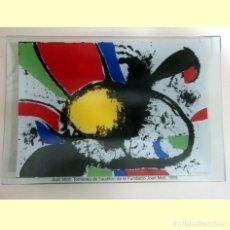 Artesanía: BANDEJA DE VIDRIO - REPRODUCCIÓN DE JOAN MIRÓ. Lote 243647050