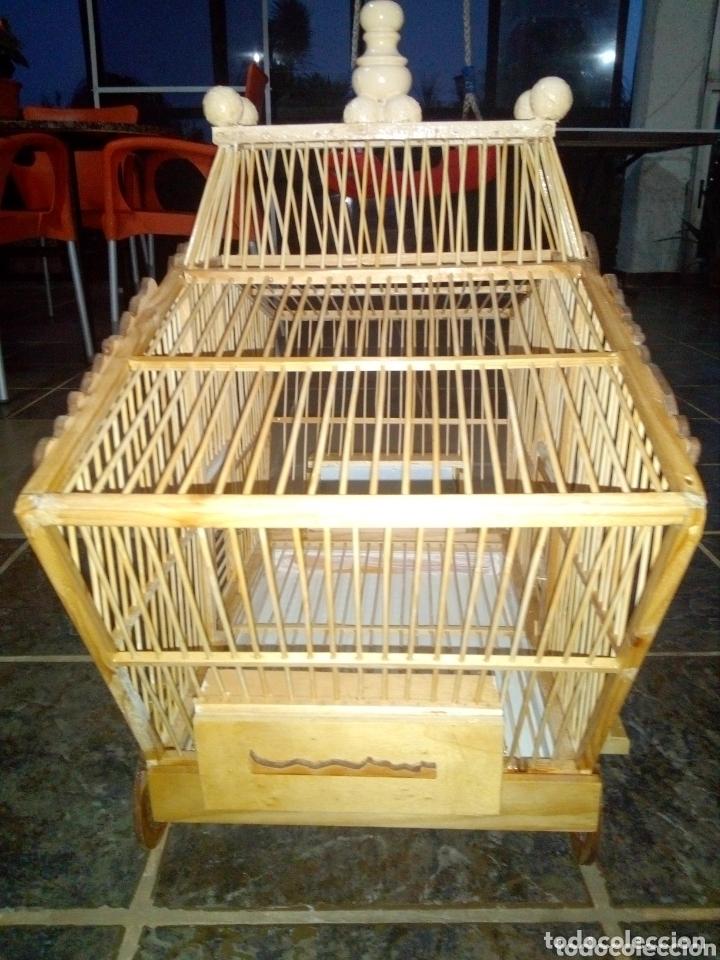 Artesanía: Jaula artesanal de madera vintage - Foto 2 - 172793035