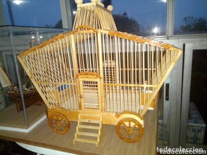 Artesanía: Jaula artesanal de madera vintage - Foto 5 - 172793035