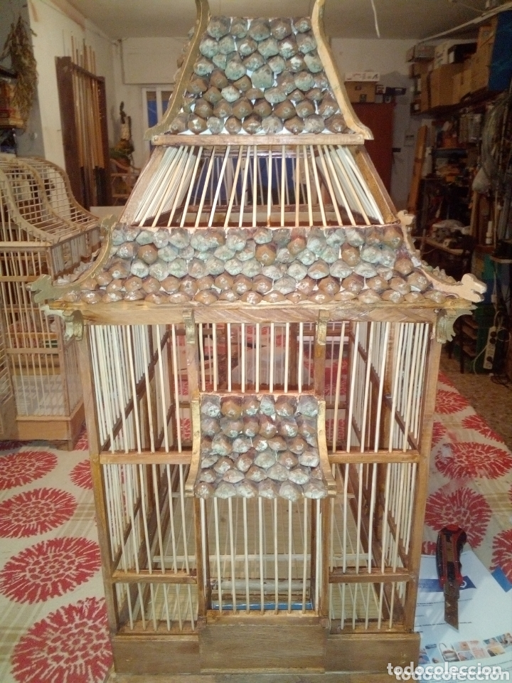 Artesanía: Jaula artesanal de madera vintage - Foto 2 - 172793170
