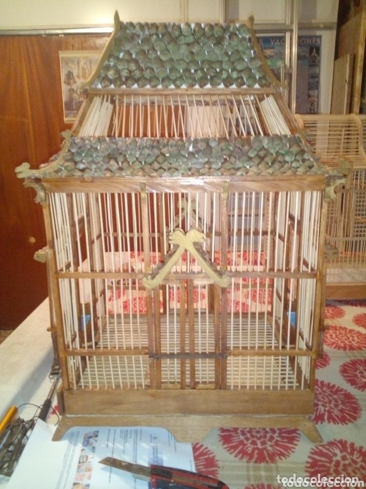 Artesanía: Jaula artesanal de madera vintage - Foto 3 - 172793170