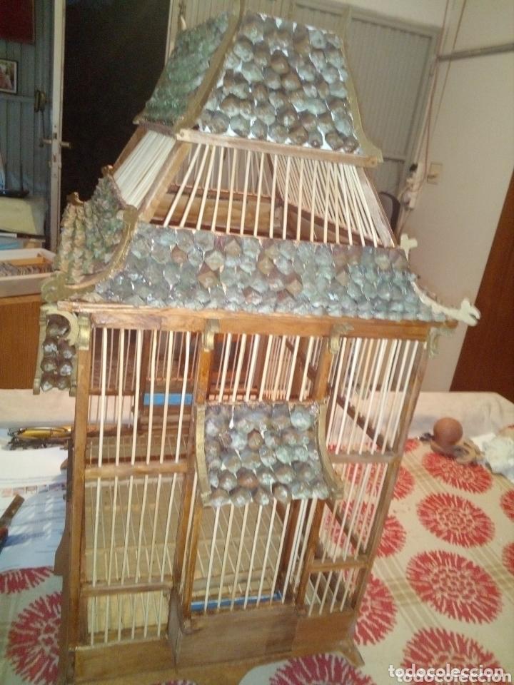 Artesanía: Jaula artesanal de madera vintage - Foto 4 - 172793170