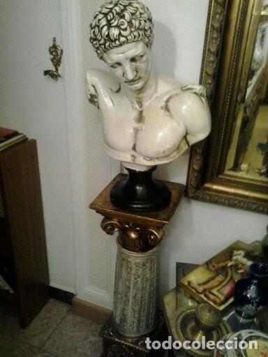 Artesanía: Busto griego y columna - Foto 2 - 173669878