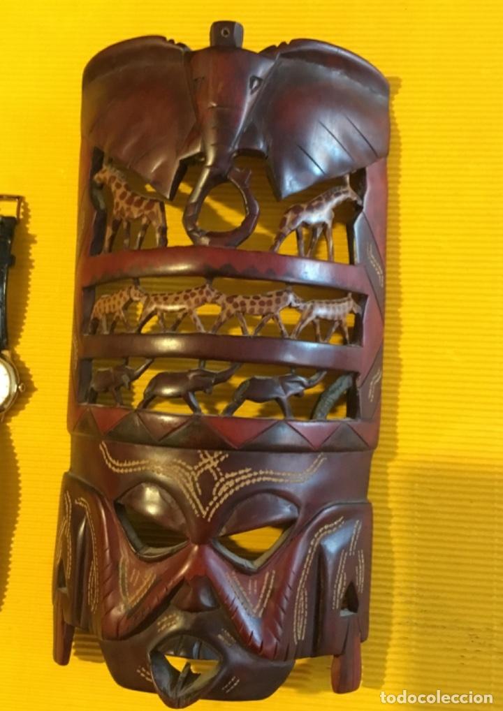 Artesanía: Antigua mascara africana tallada madera - Foto 2 - 173684647