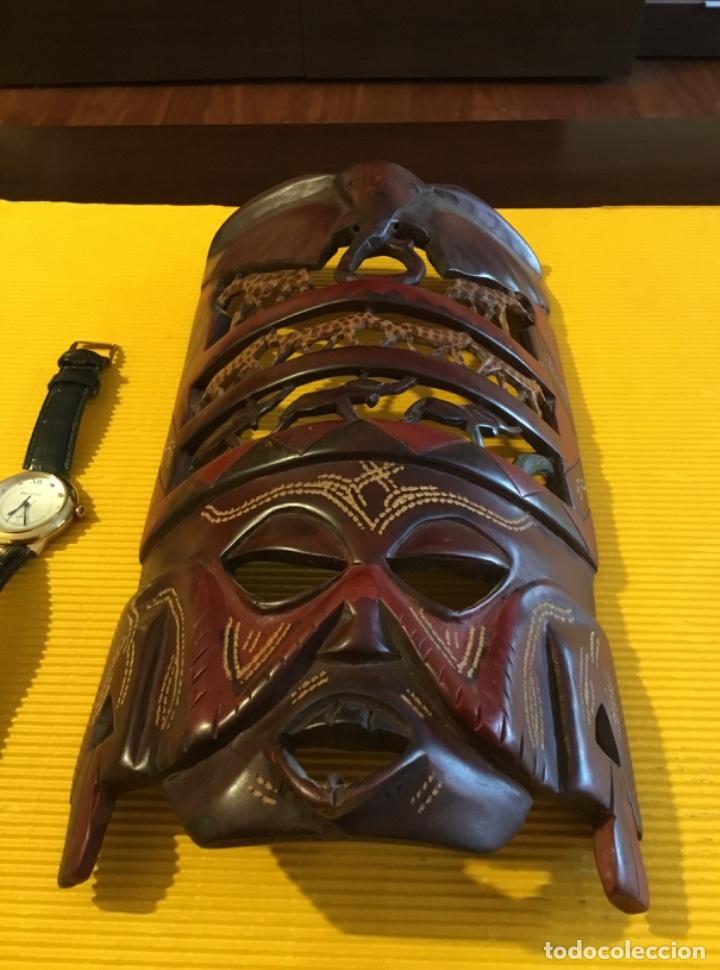Artesanía: Antigua mascara africana tallada madera - Foto 3 - 173684647