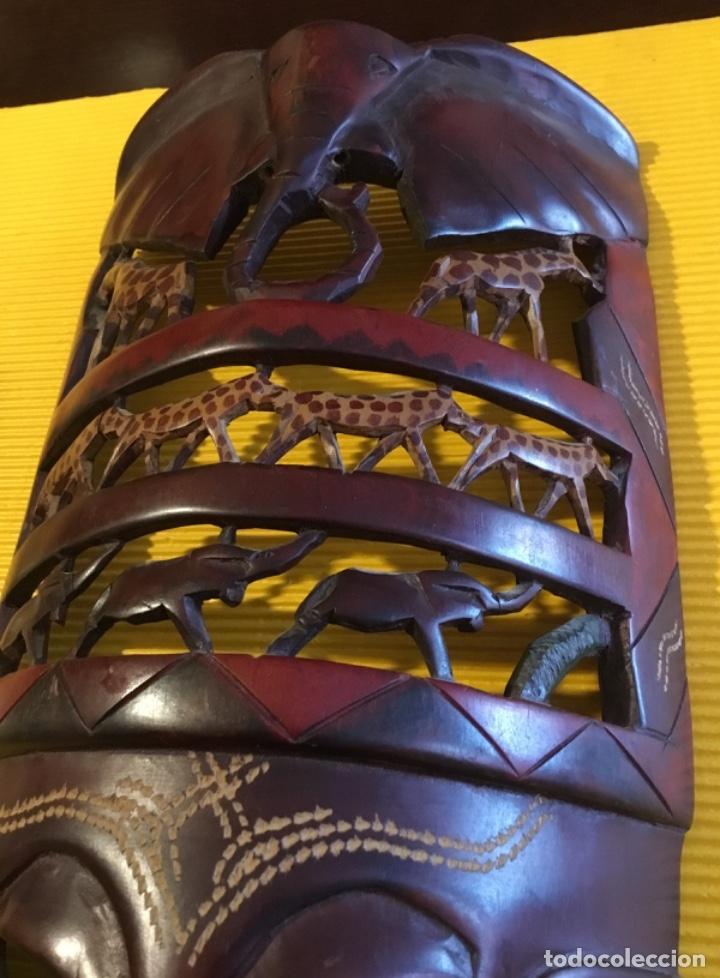 Artesanía: Antigua mascara africana tallada madera - Foto 4 - 173684647