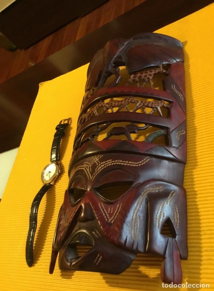 Artesanía: Antigua mascara africana tallada madera - Foto 5 - 173684647