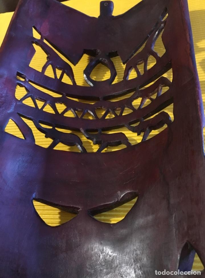 Artesanía: Antigua mascara africana tallada madera - Foto 7 - 173684647