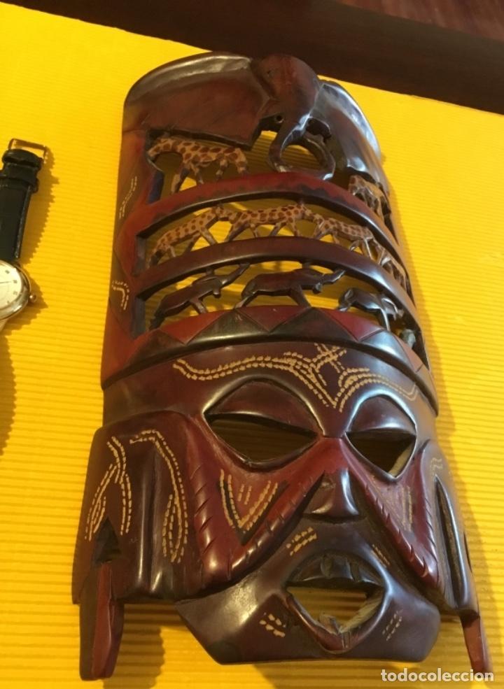 Artesanía: Antigua mascara africana tallada madera - Foto 8 - 173684647