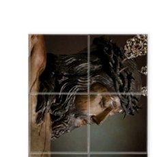 Artesanía: RETABLO DE 6 AZULEJOS 10X10 CTM DEL SANTÍSIMO CRISTO DE LA MISERICORDIA DE CÁDIZ. Lote 174306810