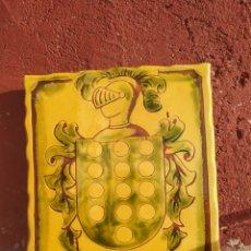 Artesanía: ESCUDO HERÁLDICO LÓPEZ⭐. Lote 175617198