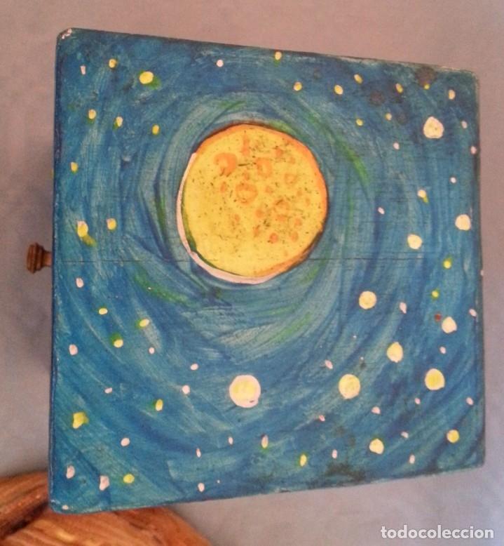 Artesanía: Joyero musical. En madera pintado a mano. Vintage jewelry - Foto 2 - 176079559