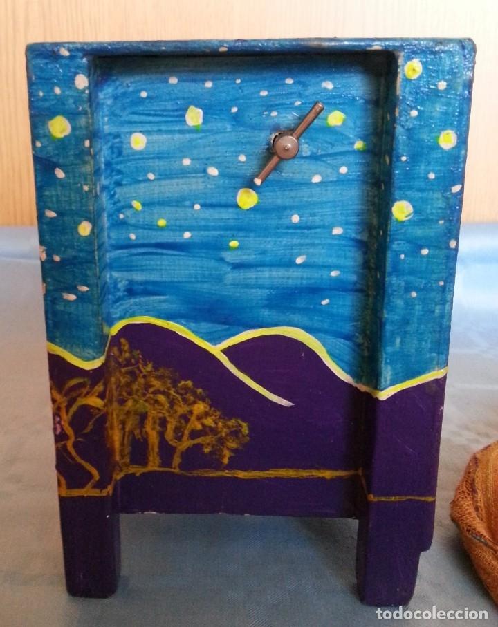 Artesanía: Joyero musical. En madera pintado a mano. Vintage jewelry - Foto 5 - 176079559