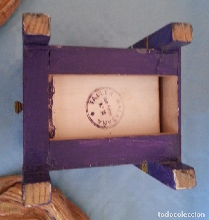 Artesanía: Joyero musical. En madera pintado a mano. Vintage jewelry - Foto 6 - 176079559