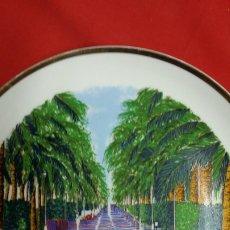 Artesanía: PLATO PORCELANA ALICANTE FILO ORO. Lote 176590978