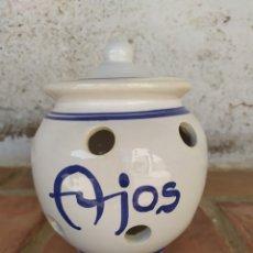 Artesanía: TARRO AJOS ✨. Lote 177239634
