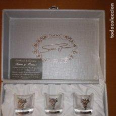 Artesanía: 6 VASITOS SERRRA Y RAMI DE PLATA DE LEY. Lote 177713959