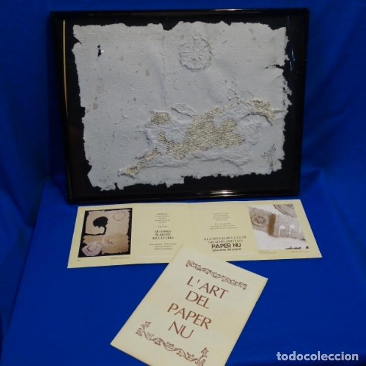 Artesanía: Cuadro de papel con firma ilegible.cal blancas.gelida.1988. - Foto 2 - 178157718