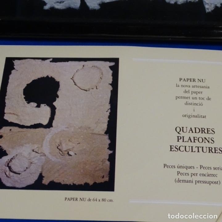 Artesanía: Cuadro de papel con firma ilegible.cal blancas.gelida.1988. - Foto 3 - 178157718
