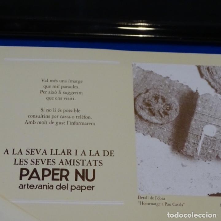 Artesanía: Cuadro de papel con firma ilegible.cal blancas.gelida.1988. - Foto 4 - 178157718