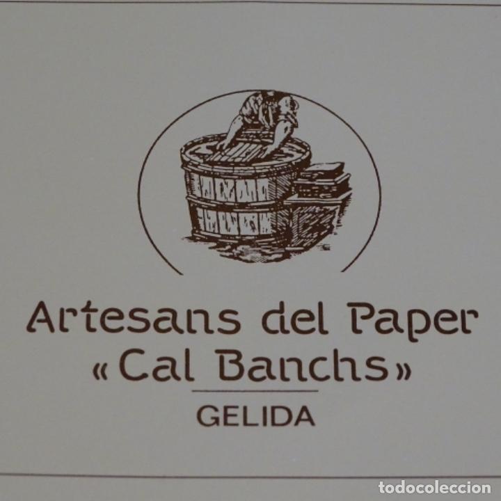 Artesanía: Cuadro de papel con firma ilegible.cal blancas.gelida.1988. - Foto 5 - 178157718