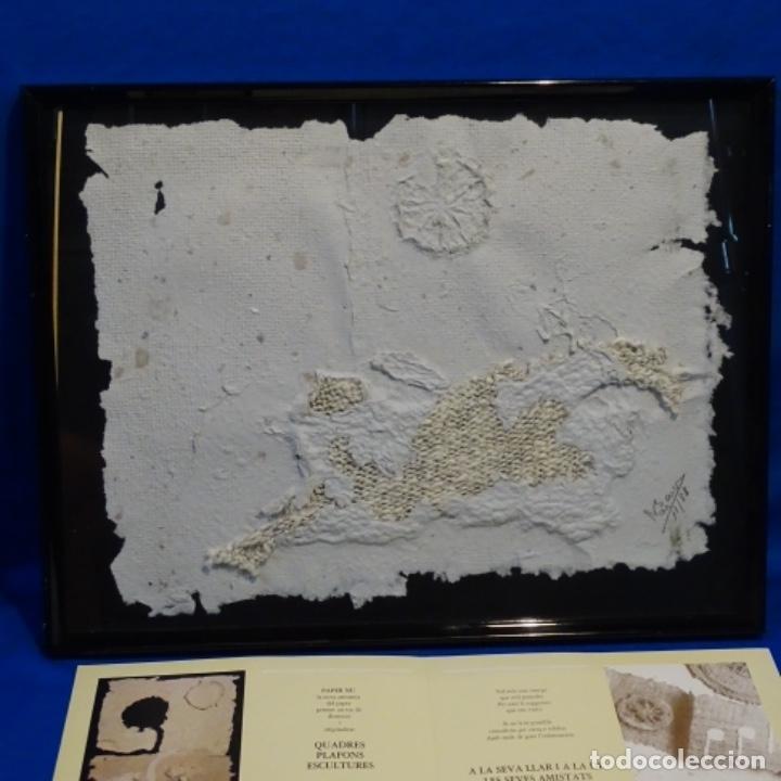 Artesanía: Cuadro de papel con firma ilegible.cal blancas.gelida.1988. - Foto 12 - 178157718